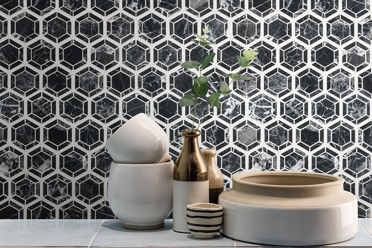 Hexagono Nero Tile
