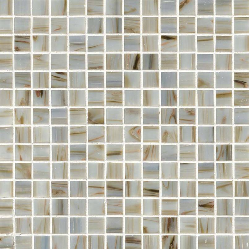 Iridescent Ivory Glass Tile