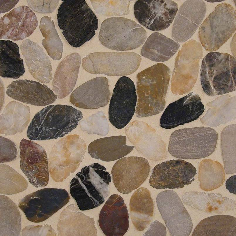Mix River Pebbles Pattern Tile