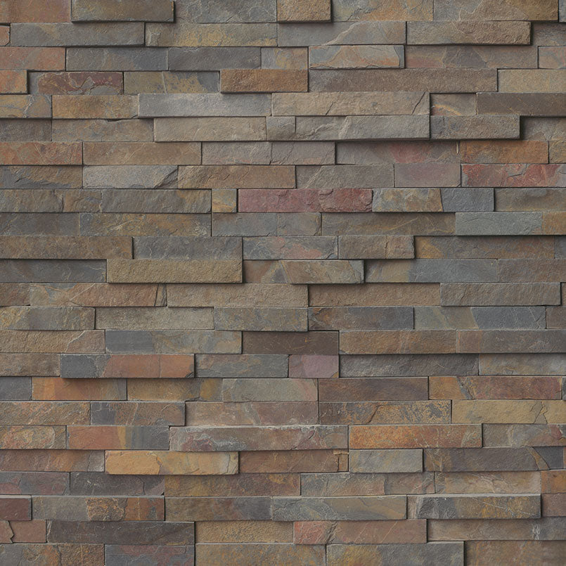 New California Gold Rockmount Stacked Stone Panels
