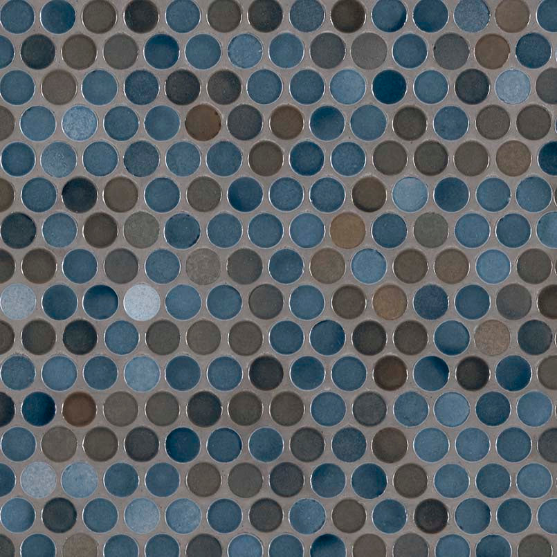 Penny Round Azul Tile