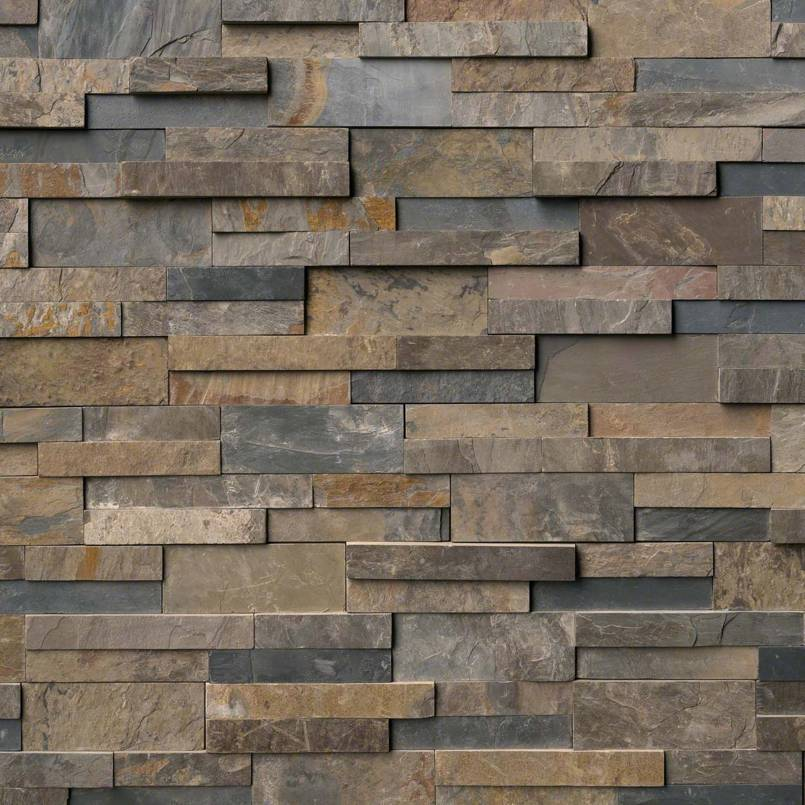 Rustic Gold Rockmount Stacked Stone Panels