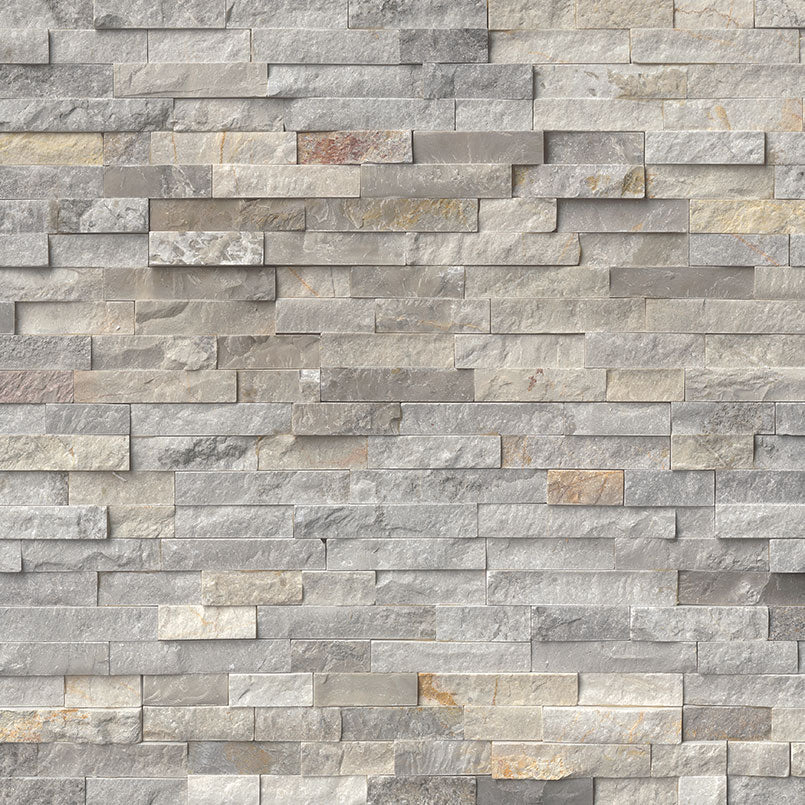 Sunset Silver Rockmount Stacked Stone Panels