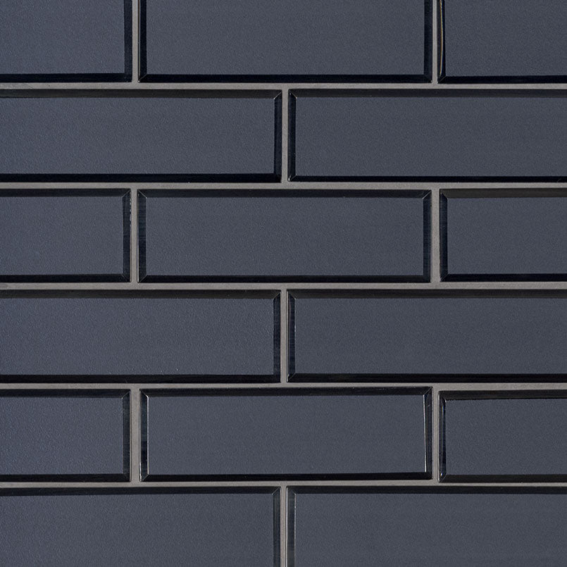 Vague Blue Glass Subway Tile