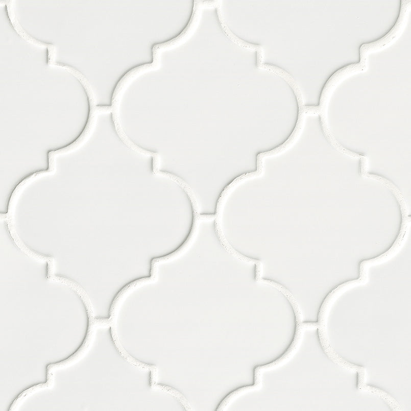 Whisper White Arabesque Tile