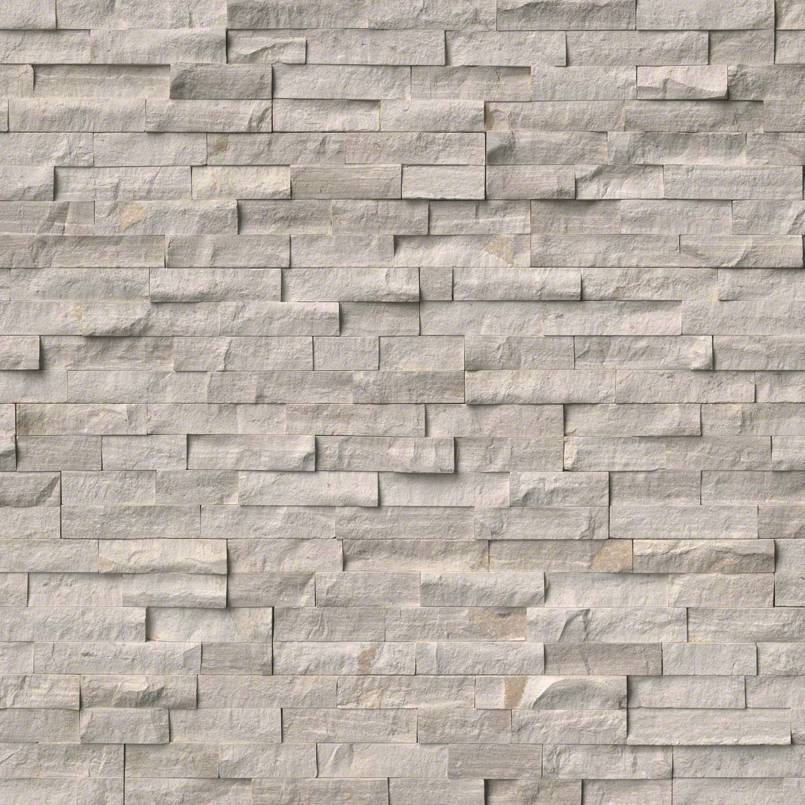 White Oak Split Rockmount Stacked Stone Panels