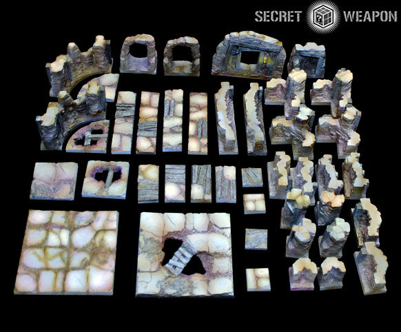 Tablescapes Tiles - Caverns and Mines Starter Set