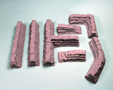 28mm Resin Terrain - 7pc Sandbag Set