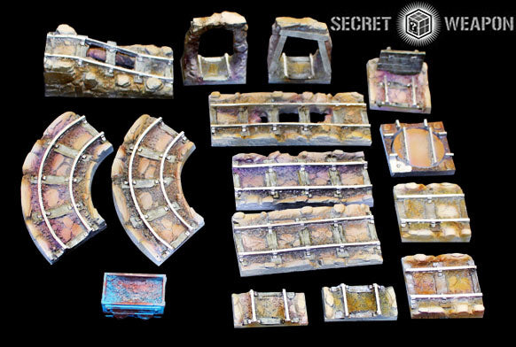 Tablescapes Tiles - Caverns and Mines Track Set