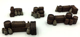 28mm Resin - 5pc Crates & Barrels Set 1