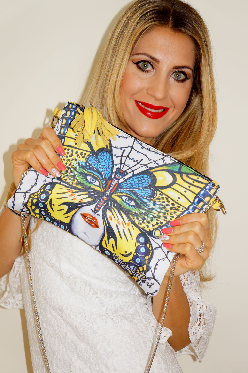Caught Butterfly Clutch Bag