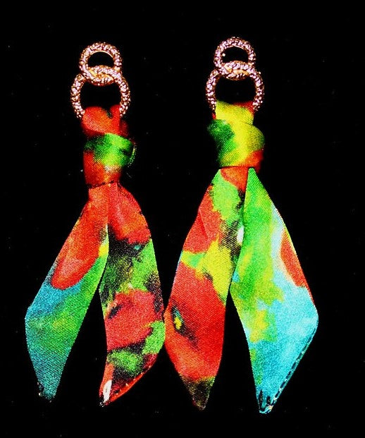 Poppies Silk Tie Earring