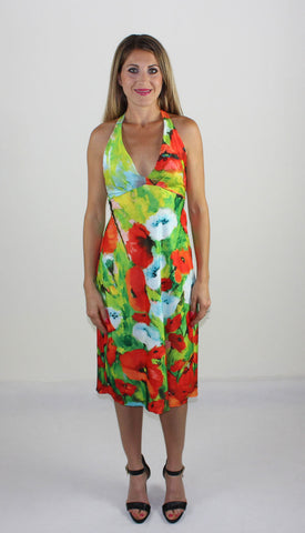Poppies Backless Summer Dress