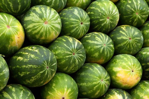 Stacked watermelons