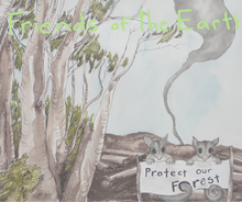 Load image into Gallery viewer, BUSHFIRE  RELIEF: 'Protect our Home' Tea Towel