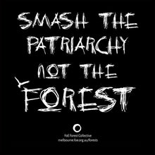 Load image into Gallery viewer, Smash Patriarchy, Not Forests! Slim Fit T