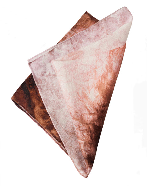 Blush Pink Lined Silk Scarf