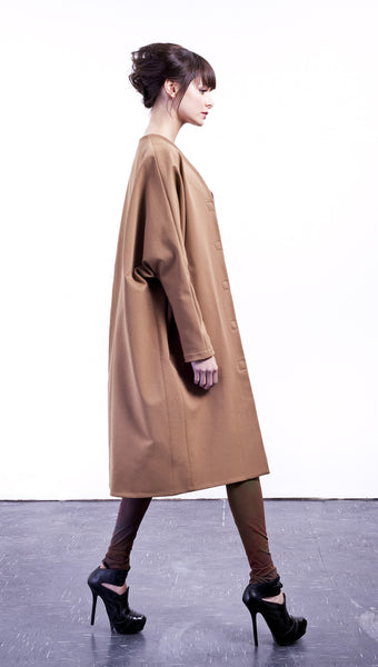 Long Cocoon Coat