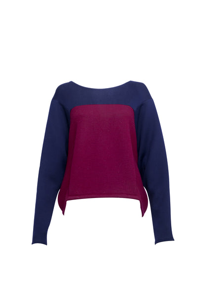 Clipped Bat Sleeve Jumper