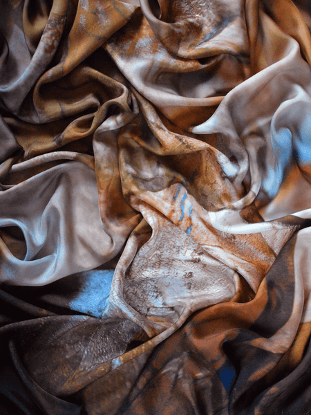 Small Dust Rose Silk Scarf