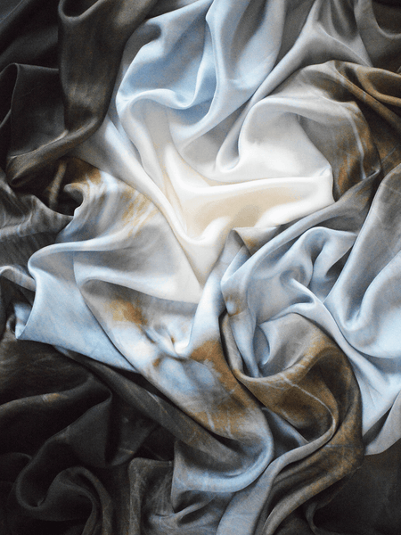 Large Grey Prism Silk Scarf