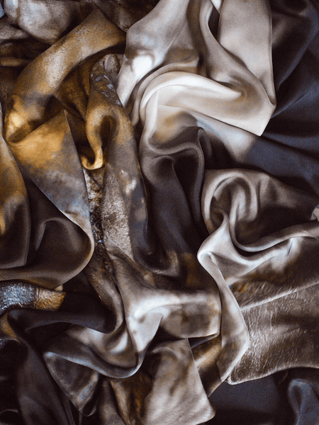 Small Smoked Grey Silk Scarf