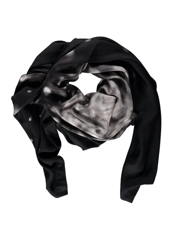 Small Black Burst Silk Scarf