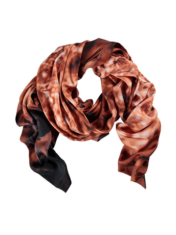 Small Burnt Orange Silk Scarf