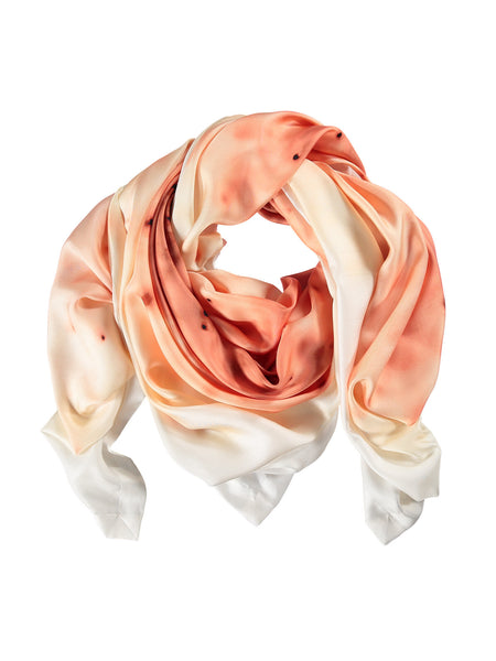 Small Coral Burst Silk Scarf