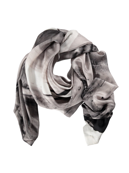Grey Silk Scarf
