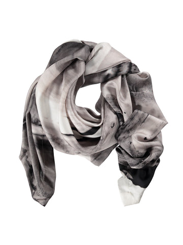 Small Grey Silk Scarf
