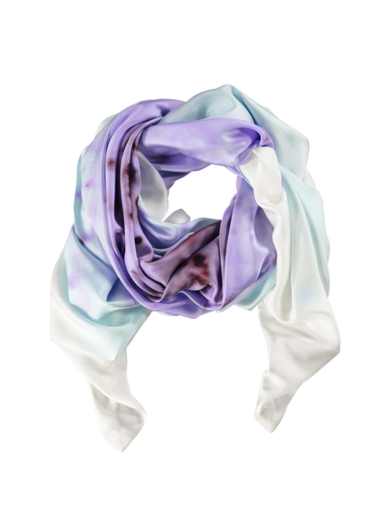 X-Large Lilac Burst Silk Scarf