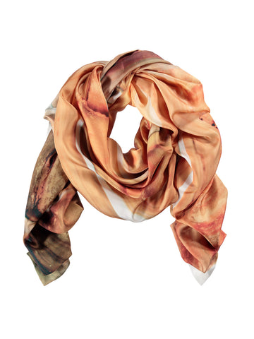 Small Peach Silk Scarf