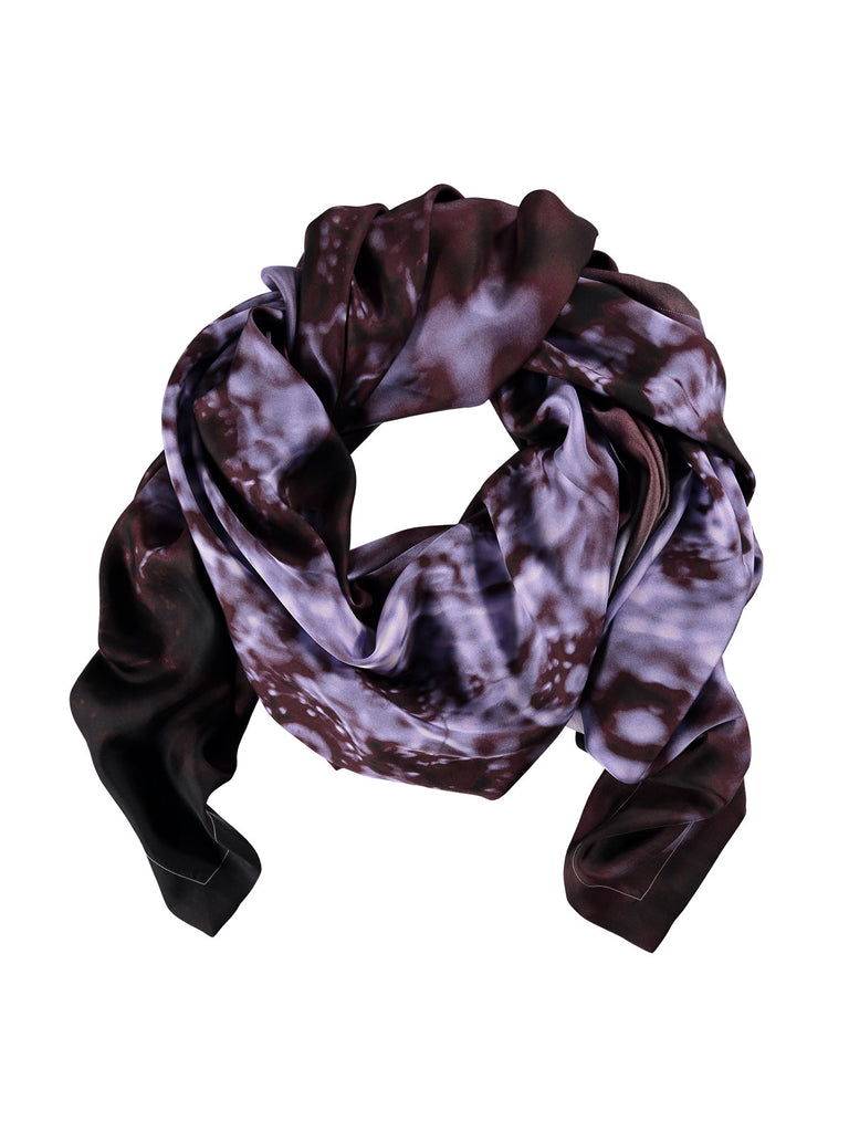 Small Purple Silk Scarf