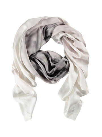 White Burst Silk Scarf
