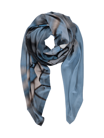 Blue Hover Silk Scarf
