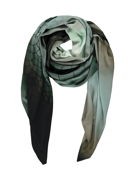 Green Multi Silk Scarf