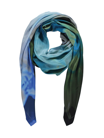 Blue Green Chair Scarf