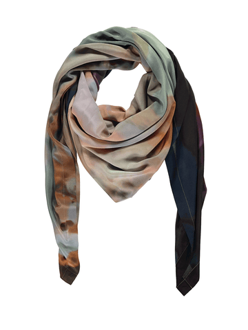 Multi Chair Silk Scarf
