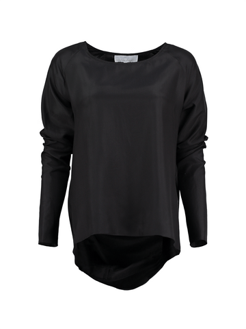 Black Raglan Bow Blouse