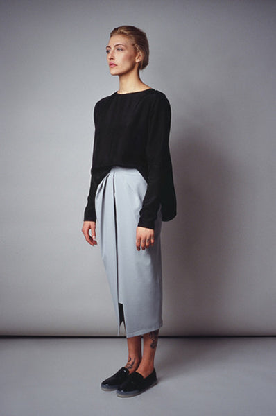 Front Slice Skirt with Underskirt