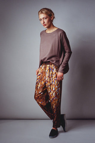 Silk Double Pleat Trouser
