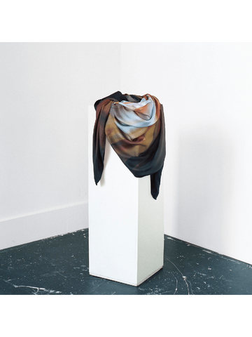 Small Iridescent Amber Silk Scarf