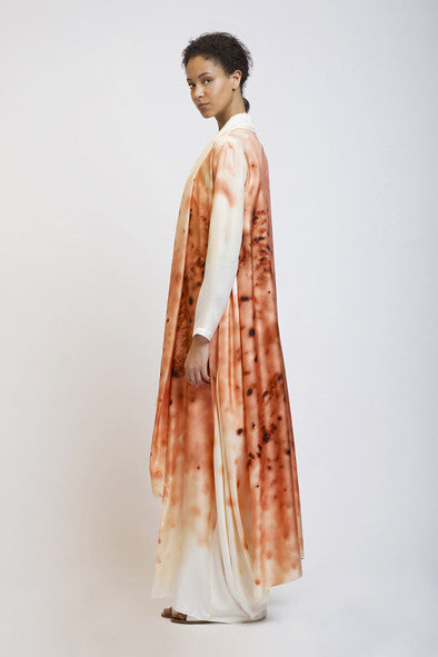 Open Back Silk Robe