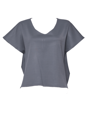 Slate Blue Bow Back T-shirt