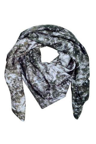 Chrome Silk Scarf