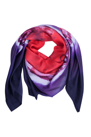 Small Light Merlot Silk Scarf