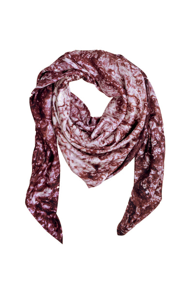 Small Maroon Silk Scarf
