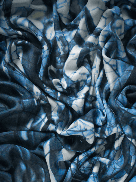 Metallic Blue Hover Scarf