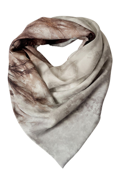 Hammer Grey Lined Silk Scarf